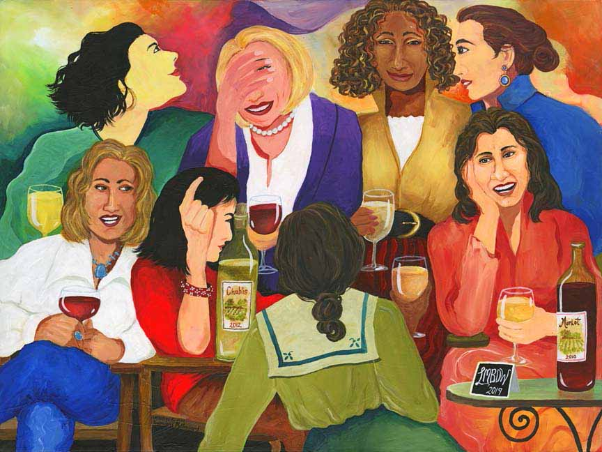 GM – Fig – Like Minded Bitches Who Drink Wine © Gwendolyn McShepard